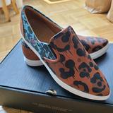 Coach Shoes   Nwot Coach Animal Print Flats   Color: Black/Orange   Size: 6