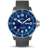 Chronorally S Quartz Blue Dial Watch 3burca Bub - Blue - Edox Watches
