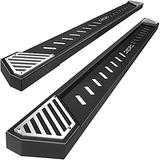"""OEDRO 6.5"""" Running Boards Compatible with 2015-2021 Ford F-150 SuperCrew Cab Pickup 4-Door; 2017-2021 Ford F-250 F-350 Super Duty Crew Cab, Textured Black Steel Nerf Bars Side Step Rails"""