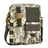 DVFJNWU Men Camo Waterproof Messenger Bag Tactical Shoulder Outdoor Travel Commuter Package ACU Digital