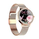 Smart Watch for Women, Novel Stylish Fitness Tracker for Ladies Waterproof Stainless Steel Smartwatch with Heart Rate Blood Oxygen Monitor Sleep Calories Pedometer for Android and iOS