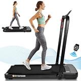 Folding Treadmill, 2.25HP Under Desk Electric Treadmill Walking Treadmill - 2 in 1 Portable Treadmill Walking Treadmill with APP, Remote Control and LED Display, Treadmills for Home, Office, Gym
