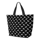 French Bulldog Dog Silhouette Black Shoulder Bag Multifunctional Large Capacity Handbag Tablet Bags Lightweight Work Tote Bag Weekender Travel Bag Beach Sack for Women
