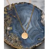 LA3accessories Women's Necklaces GOLD - Goldtone Circle Charm Pendant Necklace