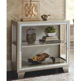 Signature Design by Ashley Furniture End Tables Metallic - Metallic Gray Chaseton Accent Cabinet