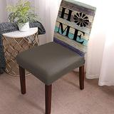 Dining Chair Covers Protector Stretch Removable Washable Seat Cushion Slipcover,Farmhouse Wildmill Home Retro Wood Plank Seat Cover Spandex for Dining Room Restaurant Hotel Country Style