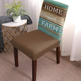 Dining Chair Covers Protector Stretch Removable Washable Seat Cushion Slipcover,Farmhouse Vintage Ombre Wood Grain Seat Cover Spandex for Dining Room Restaurant Hotel Country Style