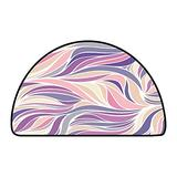 Half Round Rugs Color Hand Drawing Wave Sunny Gradient Floral Texture W 47 Inch x L 31 Inch Long Kitchen Mat Bath Carpet