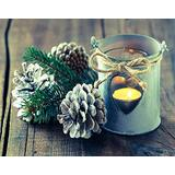 Aluffay Christmas Jigsaw Puzzles Premium Quality Christmas Lantern and Pine Cones on Wooden Desk 1000 Pieces Wooden Jigsaw Puzzle for Adults Kids Puzzle Game Toys Gift 20 Inch x 30 Inch