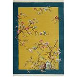 Yilong Carpet 4'x6' Vintage Wool Area Rug Chinese Art Deco Oriental Hand Knotted Carpet