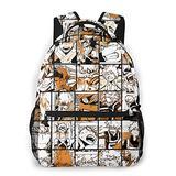 xianrenzhang My Hero Academia Bakugo Katsuki Backpack for Boys Girls School Daypack Game Bookbag 3D Prints Casual Sports School Bag Outdoor Bag