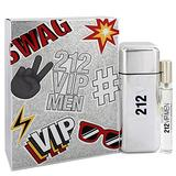 212 Vip Gift Set By Carolina Herrera Cologne for Men 3.4 oz Eau De Toilette Spray + .34 oz Mini EDT Spray &Good experience&