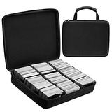 KAMISAN Large hard EVA case Compatible with 2500+ TCG CARDS,Storage Box with 8 Dividers