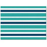 OUR WINGS Area Rug Fluffy Soft Floor Mats Living Room Bedroom Runner Rugs, Decorative Area Rug - Non-Slip/Comfy/Non Fade Home Indoor Carpet, 5'x8' Aqua Green Blue and White Stripes
