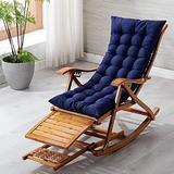 Patio Lounge Chairs Solid wood backrest chair siesta chair sandal chair leisure backrest chair, Folding Outdoor Camping Lounge, Patio Recliner Reclining Chair for Outdoor Beach Garden ( Color : Blue )