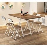 Multifunctional Portable Folding Table and Chair, Household Simple Dining Table, Outdoor Portable Garden Table and Chair, Foldable stall Table and Chair Combination