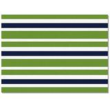 OUR WINGS Area Rug Fluffy Soft Floor Mats Living Room Bedroom Runner Rugs, Decorative Area Rug - Non-Slip/Comfy/Non Fade Home Indoor Carpet, 5'x7' Green Blue and White Stripes