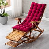 Patio Lounge Chairs Solid wood backrest chair siesta chair sandal chair leisure backrest chair, Folding Outdoor Camping Lounge, Patio Recliner Reclining Chair for Outdoor Beach Garden ( Color : Red )