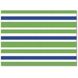 OUR WINGS Area Rug Fluffy Soft Floor Mats Living Room Bedroom Runner Rugs, Decorative Area Rug - Non-Slip/Comfy/Non Fade Home Indoor Carpet, 2'x3' Green Blue and White Stripes