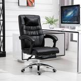 Red Barrel Studio® Computer Chair w/ Footrest Adjustable Backrest Reclining Leather Office Chair Upholstered, Size 42.1 H x 19.68 W x 18.89 D in