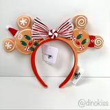 Disney Accessories   Disney Minnie Mouse Gingerbread Man Ear Headband   Color: Red/Tan   Size: Os