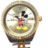 Disney Accessories   Disney Mickey Mouse Silver & Gold Metal Band Watch   Color: Gold/Silver   Size: Os