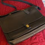 Coach Accessories | Coach Real Leather Briefcase | Color: Black | Size: Os
