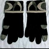 Coach Other | Coach Ladies Gloves With Touchscreen Tips | Color: Black/Silver | Size: Small