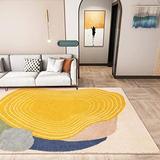 Suytan Carpets Living Rooms Geometric Rugs Modern Bedroom Yellow Area Rug Large Lounge Runners Mats Soft Nursery Kids Room Rugs,a,2.62X5.24Ft (80X160Cm)