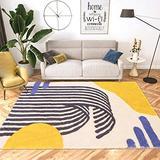 Suytan Carpets Living Rooms Geometric Rugs Modern Bedroom Yellow Area Rug Large Lounge Runners Mats Soft Nursery Kids Room Rugs,B,5.24X7.54Ft (160X230Cm)