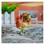TEAYASON Big Rooster Jewelry Box Vintage Bejeweled Chicken Trinket Jewelry Box Enameled Hand-Painted Small Jewelry Organizer Box for Ring,Small Jewelry Box B