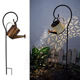 YUNAIYI Star Shower Garden Art LED Flash Fairy Light with Stake, Outdoor Garden Lawn Decoration Waterproof Watering Can Warm White LED String Lights (A)