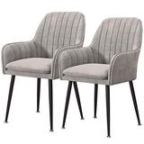 Home Kitchen Chairs Set of 2, 3, 4, 6 Dining Chair Velvet Upholstered Living Room Dining Room Chair with Backrest Metal Chair Legs Accent Side Chair Beautiful Design (Color : Gray, Size : 2pcs)