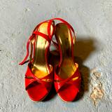 Kate Spade Shoes | Kate Spade Wedge Sexy Heels | Color: Red | Size: 7.5