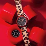 Michael Kors Accessories   Michael Kors Channing Animal Print Red Watch New   Color: Black/Red   Size: Os