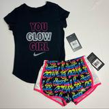Nike Matching Sets | Nike Girls T-Shirt & Dri-Fit Shorts Set Outfit | Color: Black/Pink | Size: Various