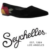 Anthropologie Shoes | Anthropologie Embroidered Ballet Flats | Color: Black | Size: 8.5