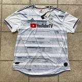 Adidas Shirts | New Adidas Los Angeles Fc 2019 Away Soccer Jersey | Color: Gray/White | Size: Xxl