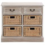Light Brown Traditional Wood Storage Unit, 28 x 30 - 96285