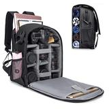 """Cwatcun Camera Backpack with Extra Storage, DSLR SLR Water Resistant Camera Bag with 15.6"""" Laptop Compartment Fits Canon Nikon Sony Camera, Camera Case with Tripod Holder for Women Men Photographer"""