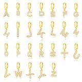 floweragrant Women Silver Earrings, 1Ps 925 Sterling Silver Cute Initial 26 Letters Puncture Piercing Hoop Earring Pearl Earrings for Women Alphabet Earring Jewelry