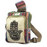 Unique design 100% Himalaya Hemp Sling Backpack Crossbody Backpack Hippie Backpack Festival Backpack Hiking and Tablet Backpack FAIR TRADE Handmade with Love.