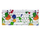 Colorful Paint Multi Device Spanish Wireless Bluetooth Keyboard Ultra Slim Wireless Bluetooth Keyboard Compatible for iPad, iPad Pro,iPhone,iOS,Mac OS,Android Tablets,Windows(Battery Not Included)