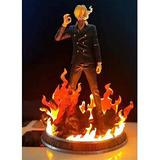 LHAHGLY Anime Character Model,ONE Piece Anime Figure 37CM Vinsmoke Sanji Statue Can-emit-Light Sanji Collectibles Souvenir Decorations Model Puppet Vinsmoke Sanji,Toys for Kids Luffy Straw hat