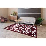 Area Rugs Extra Soft and Comfy Carpet, Area Rugs for Kitchen, Living Room Rug, Runner Rug, Indoor Rugs for Bedroom, Machine Rug for Kids Rug, Red 5x7 Area Rugs, Geometric Rugs, Area Rugs Clearance