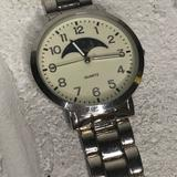 American Eagle Outfitters Accessories | American Eagle Mens Moon Phase Watch | Color: Silver | Size: Os