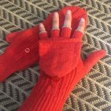 American Eagle Outfitters Accessories | Nwot- Knit Convertible Gloves | Color: Orange/Pink | Size: Os