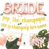 Xuu Bachelorette Party the Champagne She Is Changing Her Name Decorations Kit in Green, Size 0.8 H x 13.4 W x 10.3 D in   Wayfair XU0317135327