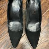 Michael Kors Shoes | Italian Black Suede Chunky Heel. 4 Inch Heel | Color: Black | Size: 8