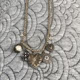 American Eagle Outfitters Jewelry | Charm Necklace With Heart Locket | Color: Gold/Silver | Size: Os